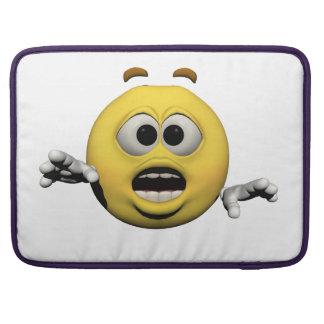 Housse Pour Macbook Émoticône jaune ou smiley de crainte