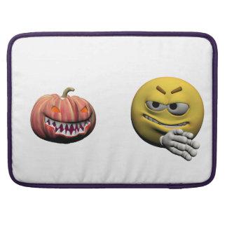 Housse Pour Macbook Émoticône jaune ou smiley de Halloween
