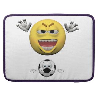 Housse Pour Macbook Émoticône jaune ou smiley du football