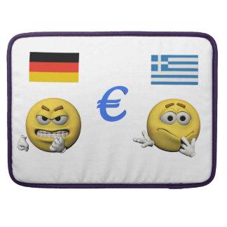 Housse Pour Macbook Émoticône jaune ou smiley et euro
