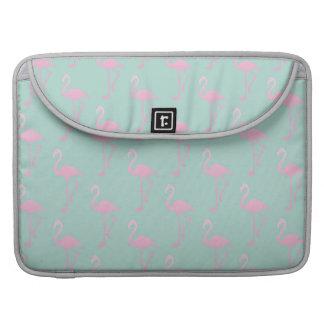 Housse Pour Macbook Flamant rose sur le motif sans couture turquoise