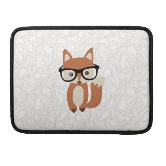 Housse Pour Macbook Fox w/Glasses de bébé de hippie