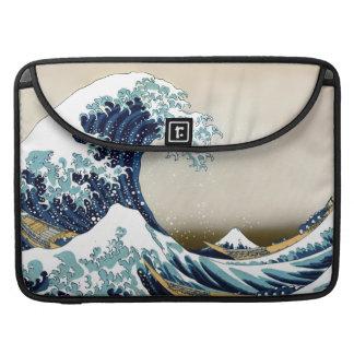 Housse Pour Macbook Grande vague reconstituée outre de Kanagawa par