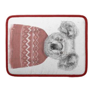 Housse Pour Macbook Koala d'hiver (rouge)