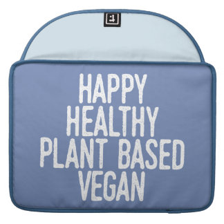 Housse Pour Macbook Le plante sain heureux a basé le végétalien
