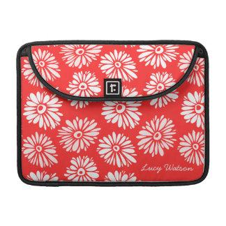 Housse Pour Macbook Le rouge fleurit la douille d'aileron de Rickshaw
