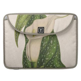 Housse Pour Macbook Le vert vintage de zantedeschia de fleur laisse le