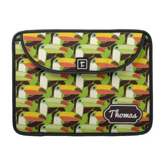 Housse Pour Macbook Les toucans colorés | ajoutent votre nom