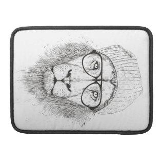 Housse Pour Macbook Lion frais (noir et blanc)