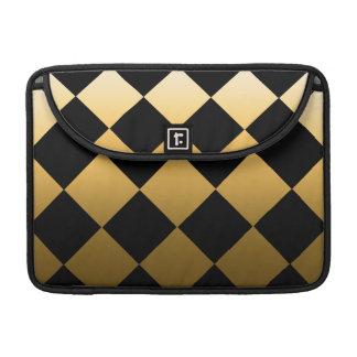 Housse Pour Macbook Motif Checkered de diamant d'or
