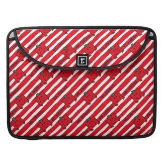 Housse Pour Macbook Motif de rayures de rouge de M. Strong |