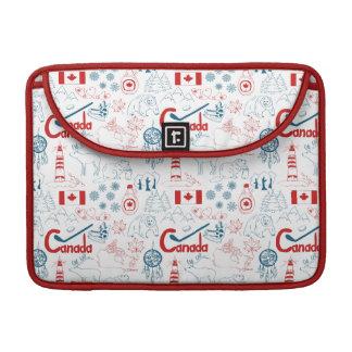 Housse Pour Macbook Motif de symboles du Canada |