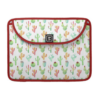 Housse Pour Macbook Motif en pastel d'aquarelle de cactus