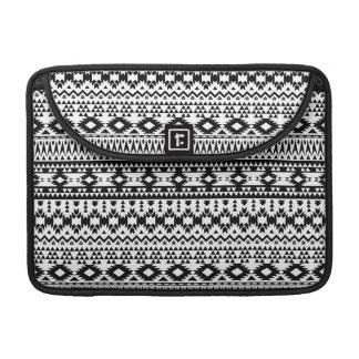 Housse Pour Macbook Motif géométrique aztèque noir et blanc de vecteur
