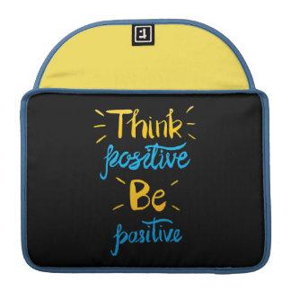 Housse Pour Macbook Pensez que le positif soit pro douille positive de