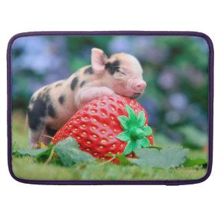 Housse Pour Macbook porc de fraise