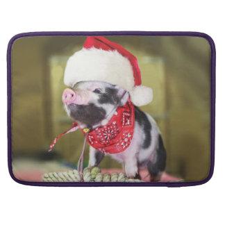 Housse Pour Macbook Porc le père noël - porc de Noël - porcelet