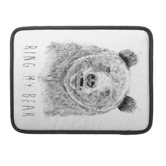 Housse Pour Macbook Sonnez mon ours (bw)