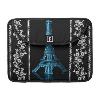 Housse Pour Macbook Tour Eiffel artistique avec les frontières