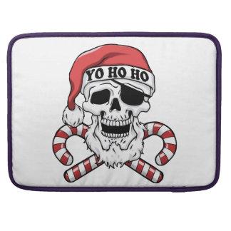 Housse Pour Macbook Yo ho ho - pirate père Noël - le père noël drôle