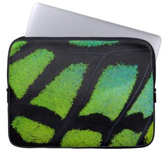 Housse Pour Ordinateur Portable Aile de papillon de vert et de noir de chaux