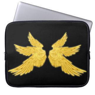 Housse Pour Ordinateur Portable Ailes d'or de Falln Arkhangel