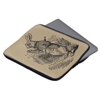 Housse Pour Ordinateur Portable Alice vintage au pays des merveilles la montre
