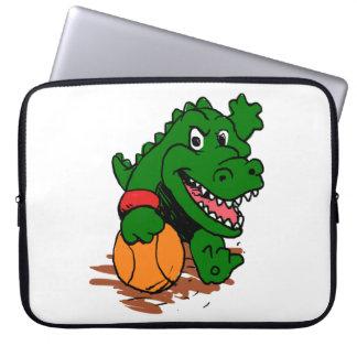Housse Pour Ordinateur Portable Alligator jouant au basket-ball