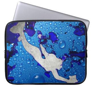 Housse Pour Ordinateur Portable Art de sirène de natation par Lita Kelley