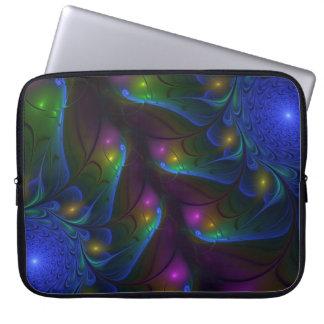 Housse Pour Ordinateur Portable Art moderne abstrait lumineux coloré de fractale