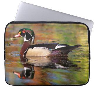 Housse Pour Ordinateur Portable Bains masculins de canard en bois, la Californie