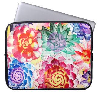Housse Pour Ordinateur Portable Beau motif succulent coloré de plante