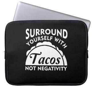Housse Pour Ordinateur Portable Bordure vous-même avec la négativité de taco pas