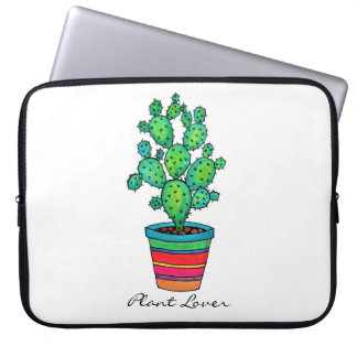 Housse Pour Ordinateur Portable Cactus magnifique d'aquarelle dans le beau pot