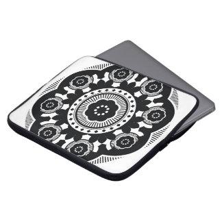 Housse Pour Ordinateur Portable Caisse noire et blanche d'ordinateur portable de