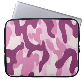 Housse Pour Ordinateur Portable Camo rose