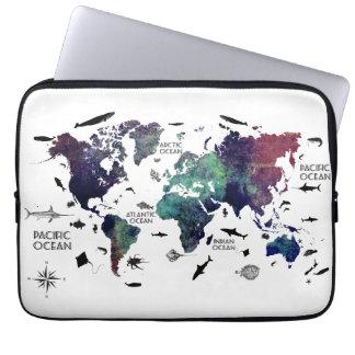 Housse Pour Ordinateur Portable carte 7 du monde