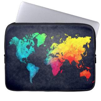 Housse Pour Ordinateur Portable carte du monde