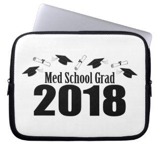 Housse Pour Ordinateur Portable Casquettes du diplômé 2018 d'école de Med et