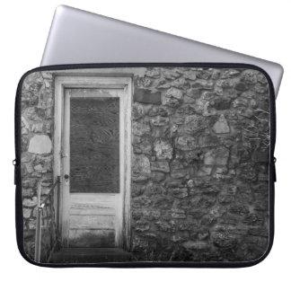 Housse Pour Ordinateur Portable Cette vieille gamme de gris de mur de roche