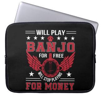 Housse Pour Ordinateur Portable Chemise d'argent de jeu d'arrêt de Frree de banjo