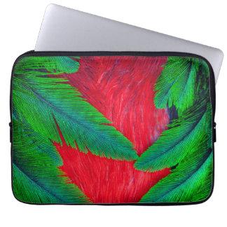 Housse Pour Ordinateur Portable Conception resplendissante de plume de quetzal