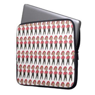Housse Pour Ordinateur Portable Considérant rouge noir de professeur de danse de