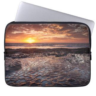 Housse Pour Ordinateur Portable Coucher du soleil à la plage, la Californie