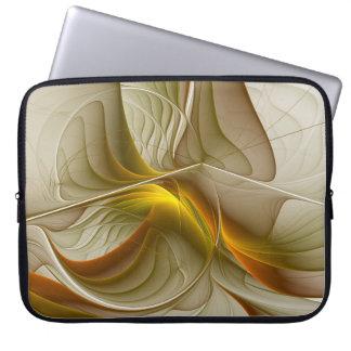 Housse Pour Ordinateur Portable Couleurs des métaux précieux, art abstrait de
