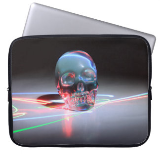 Housse Pour Ordinateur Portable Crâne clair abstrait