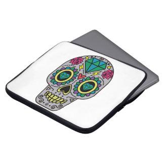 Housse Pour Ordinateur Portable Crâne coloré génial abstrait de sucre