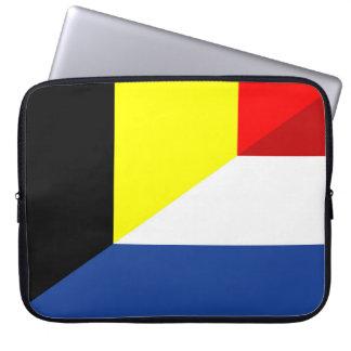 Housse Pour Ordinateur Portable de drapeau de pays de drapeau de la Belgique de