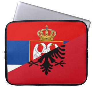 Housse Pour Ordinateur Portable de symbole de pays de drapeau de la Serbie Albanie