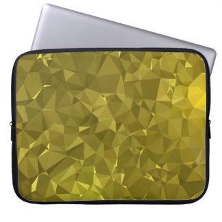 Housse Pour Ordinateur Portable Dessins géométriques élégants et propres - or